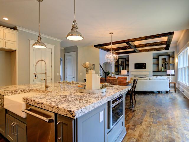 transitional design custom home marietta ga transitional kitchen