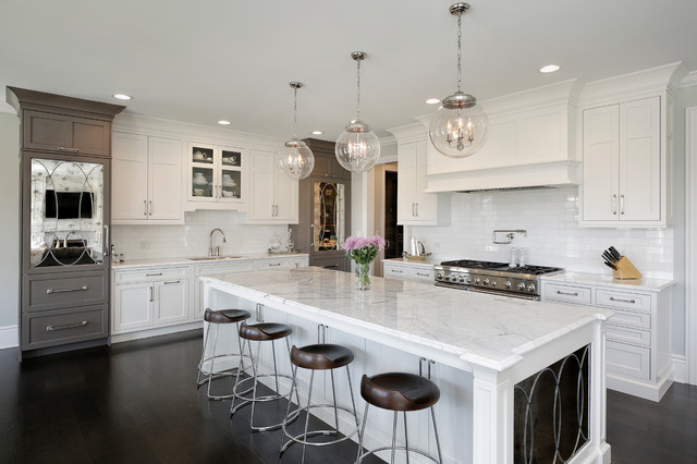 Transitional Design Meets Modern Color Palette Traditional Kitchen