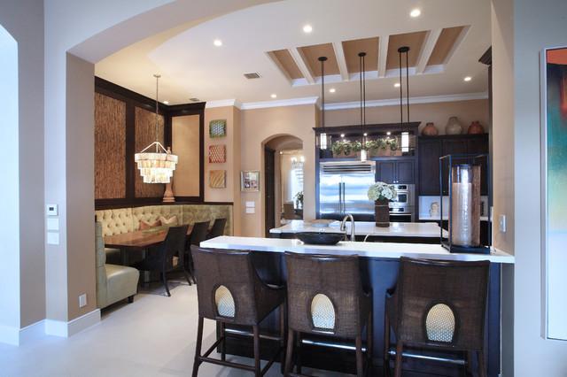 Transitional Florida Home transitional-kitchen