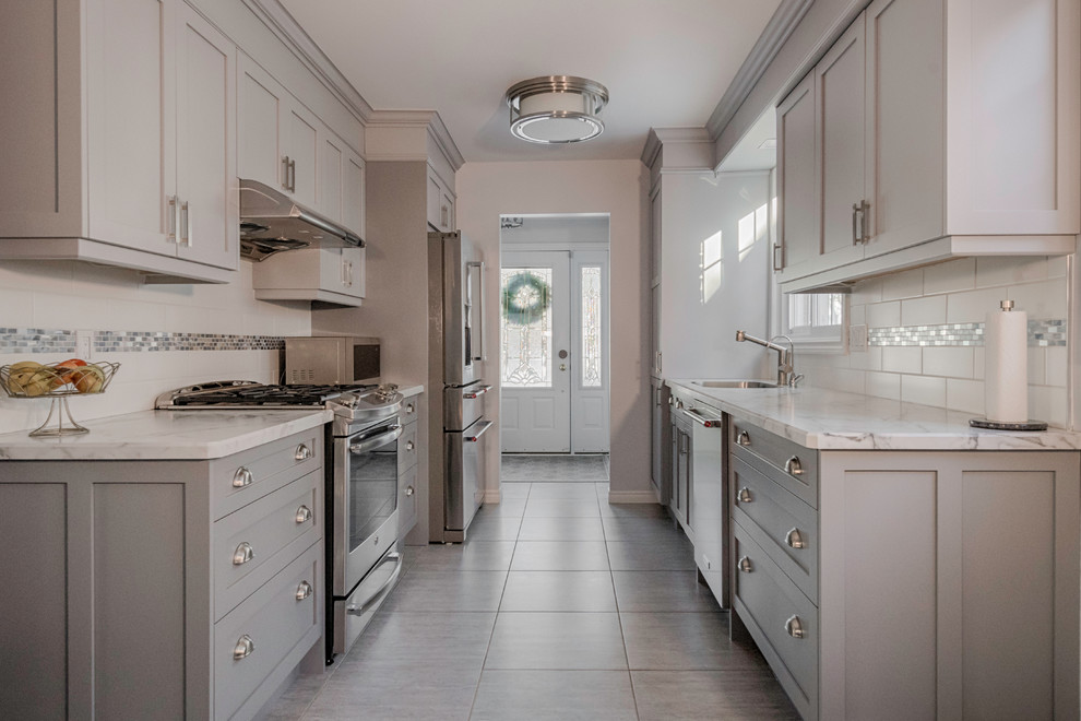 Transitional Galley Kitchen Remodel - Transitional ...