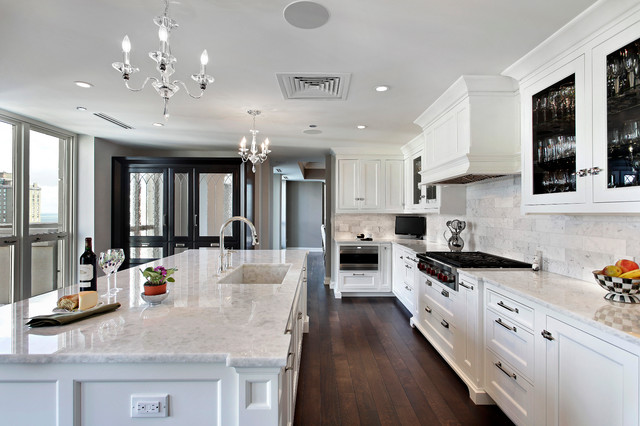 Transitional high end hi rise home for Average cost of high end kitchen remodel