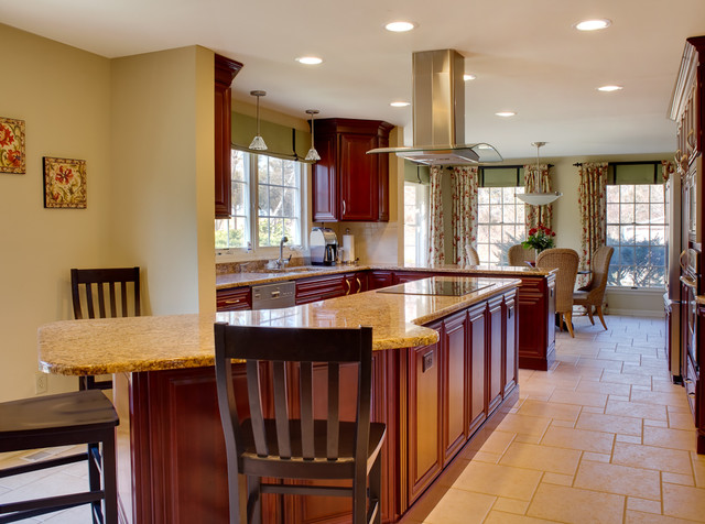 Transitional  home contemporary kitchen
