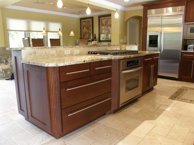 Transitional Kitchen - Contemporary - Kitchen - miami - by ...