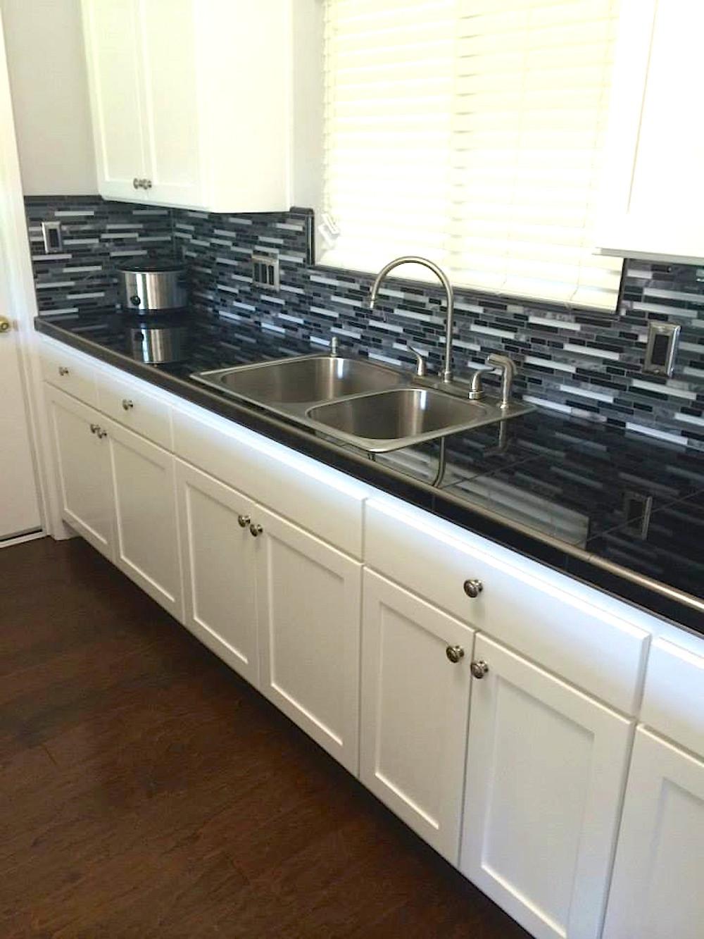 Transitional Kitchen Backsplash in Lodi, CA