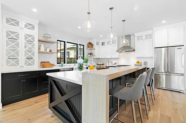 Modern urban farmhouse di transizione cucina san francisco