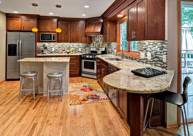 The many kitchens of Boyer Building - Transitional - Kitchen ...