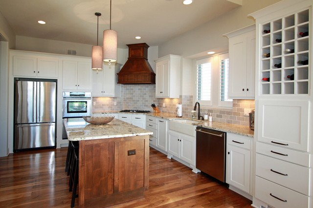 Transitional Kitchen by Rebekah Schaaf, Photo Credit: Brynn Burns Photography contemporary-kitchen