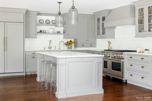 Grey eminence transitional kitchen new york by for Kitchen design 14x14