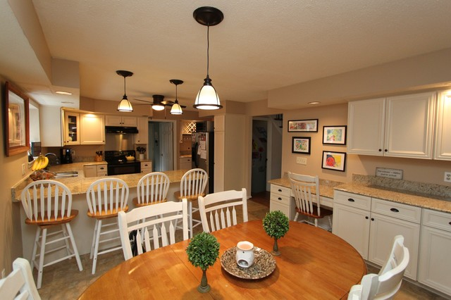 Transitional Kitchen In White Laminate From Westminster