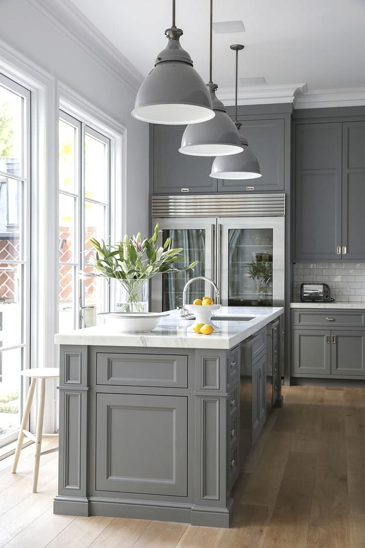 75 Beautiful Kitchen With Gray Cabinets And White Countertops Pictures Ideas January 2021 Houzz