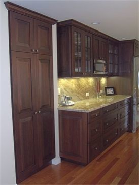 Transitional Kitchen Light and Dark eclectic-kitchen