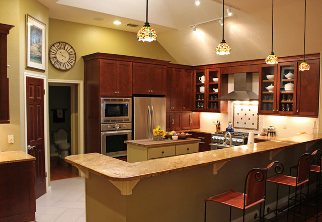 Transitional Kitchen Transitional Kitchen Austin By New Creations Custom Kitchen And
