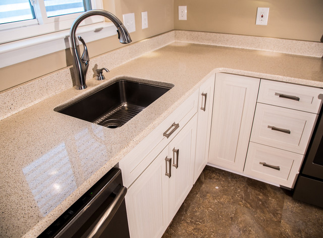 Transitional Kitchen Refaced in White Chocolate Laminate in Owings Mills, MD - Transitional ...