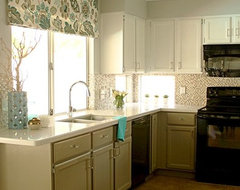 Glamour Girl Kitchen on a Budget transitional-kitchen