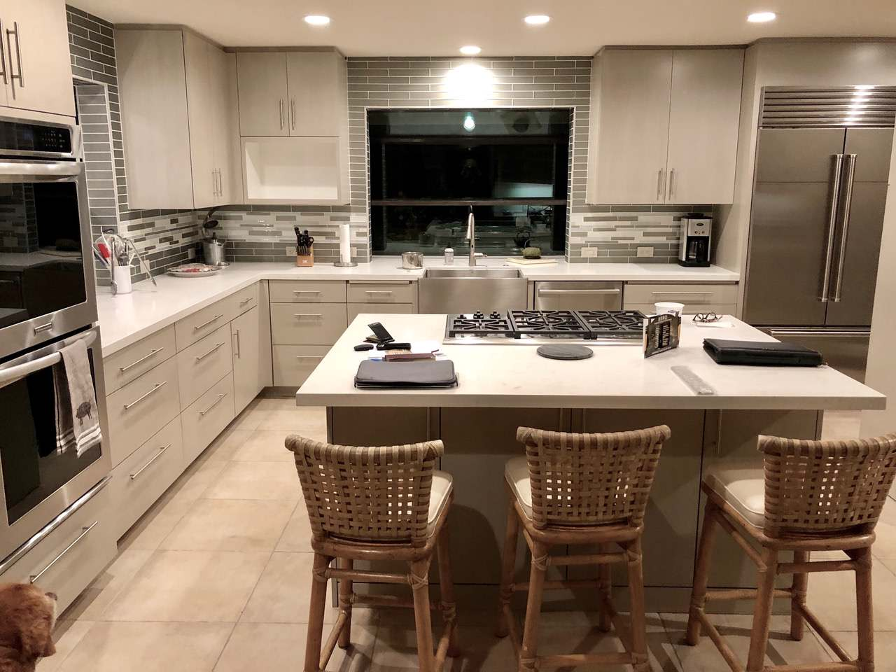 Transitional Kitchen Uplift Before and After