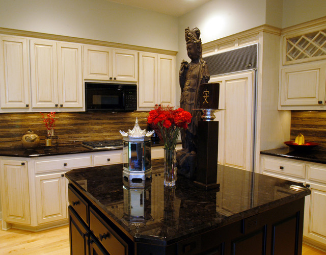 Transitional Kitchen with Asian Flair eclectic-kitchen