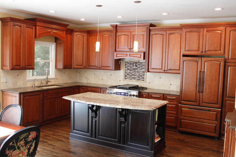 Transitional Kitchen with Dura Supreme's Herrington Arched ...