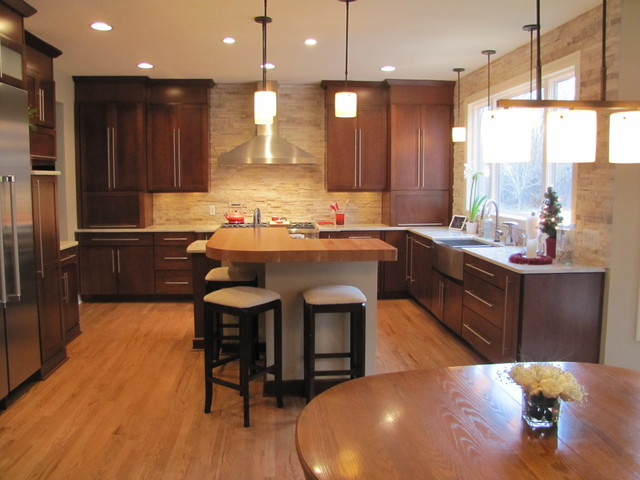 Transitional Kitchen with the \