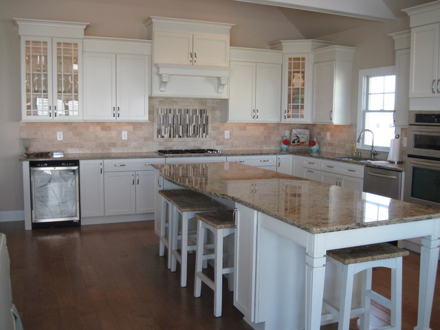 High Quality Transitional Maple Chiffon Kitchen Kitchen