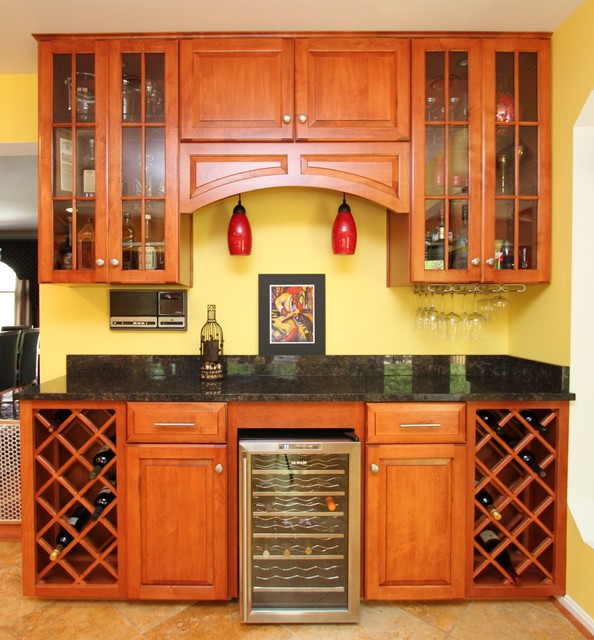 Kitchen Cabinets Md: Transitional Maple Kitchen With Custom Bar In Laurel, MD