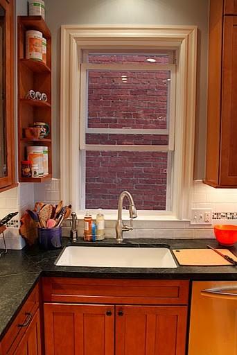 Transitional Maple Praline Kitchen traditional-kitchen