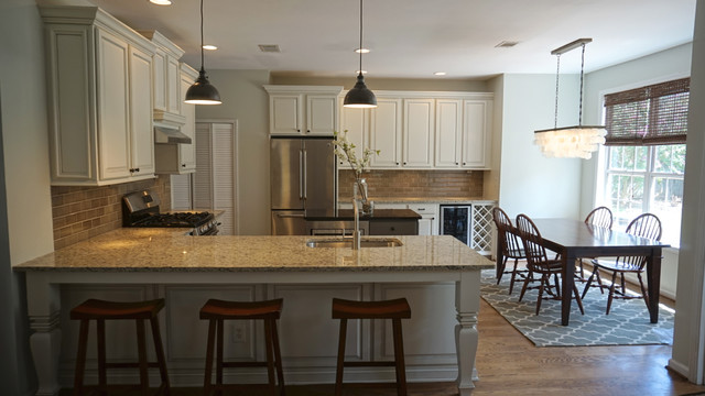 Transitional Oak Kitchen Makeover - Transitional - Kitchen - Atlanta - by Beauti-Faux Interiors
