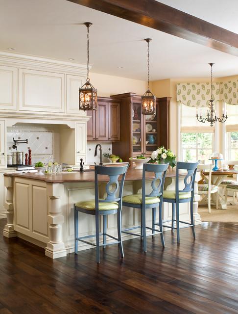 Transitional Tudor transitional-kitchen