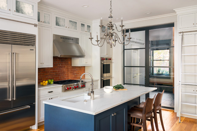 transitional urban kitchen design boston ma