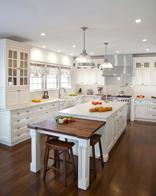 Transitional white kitchen in ny traditional kitchen for New york style kitchen design