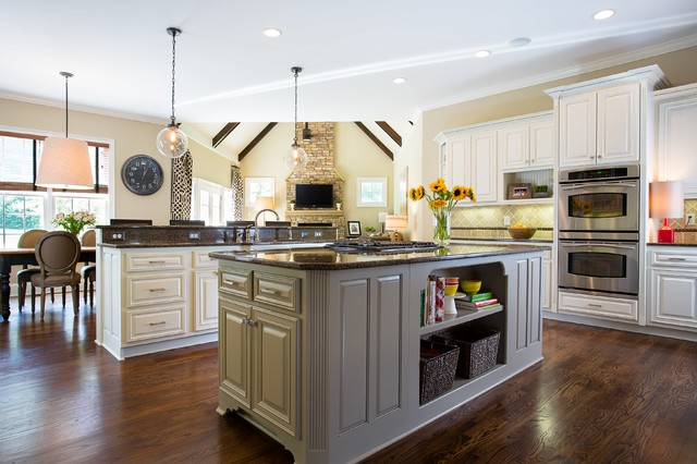 Transitional White Kitchen Makeover - Traditional - Kitchen - other metro - by Beauti-Faux Finishes