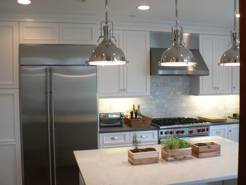 What is the make and model of the industrial pendant Modern kitchen pendant lighting ideas