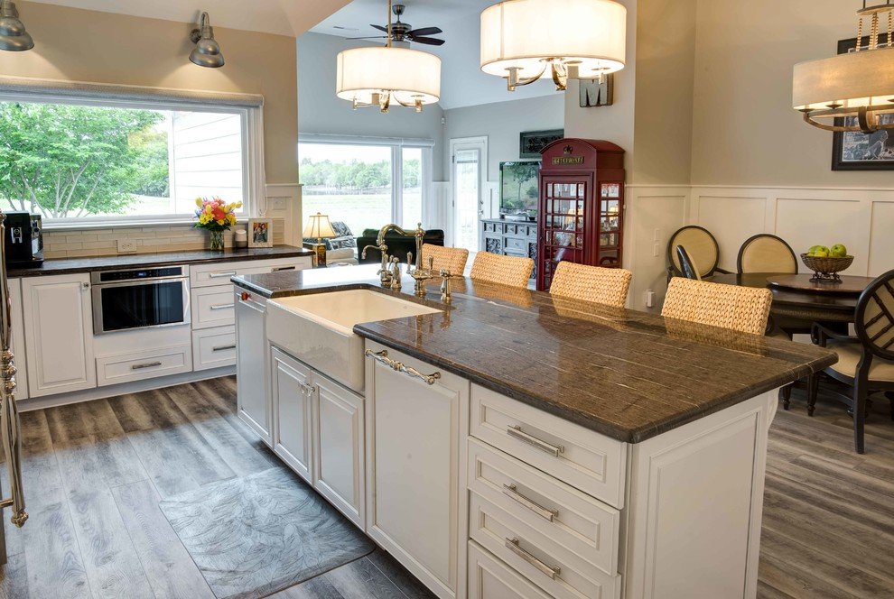 Transitional White Kitchen Remodel Cary Nc Transitional Kitchen Raleigh By Reico Kitchen Bath