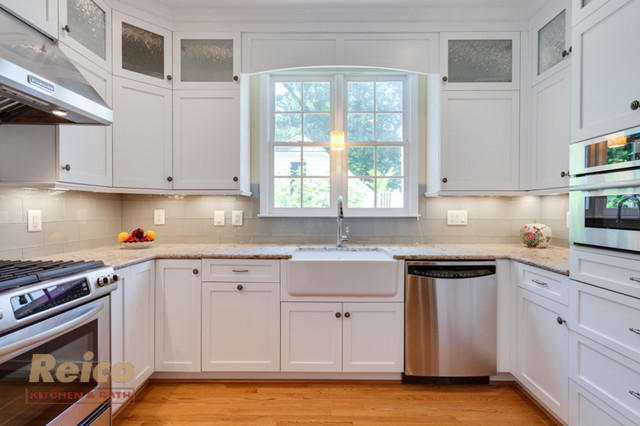 Transitional White Kitchen Remodel Gaithersburg Md Transitional Kitchen Other Metro By