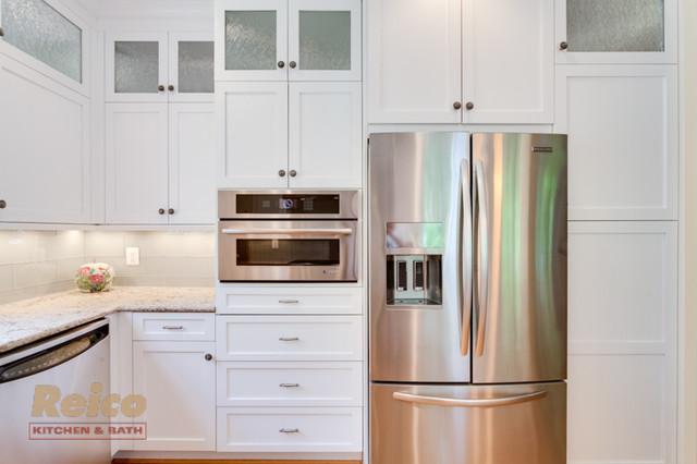 Transitional White Kitchen Remodel Gaithersburg MD Transitional Kitchen