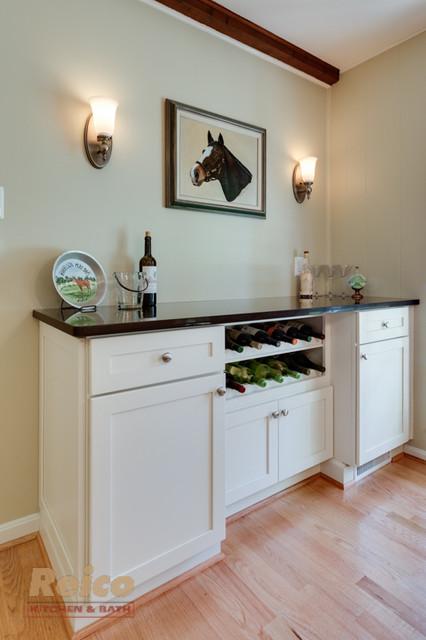 Transitional white kitchen remodel in rockville md for Bath remodel rockville md