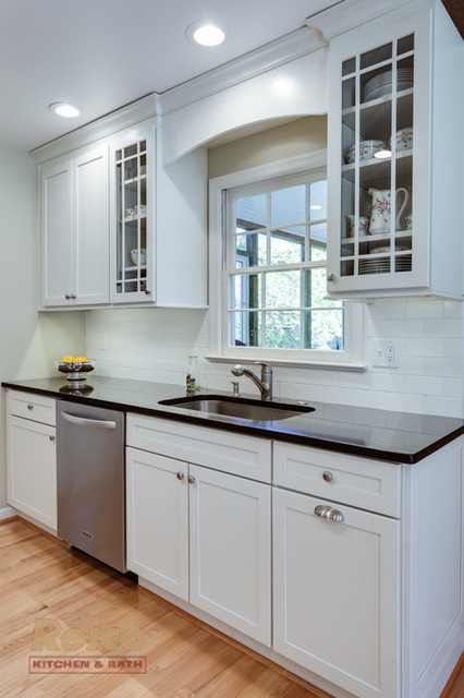 Transitional White Kitchen Remodel In Rockville Md Transitional Kitchen Dc Metro By