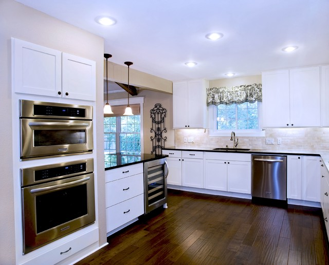 Transitional White Kitchen - Shaker Style Cabinets traditional-kitchen