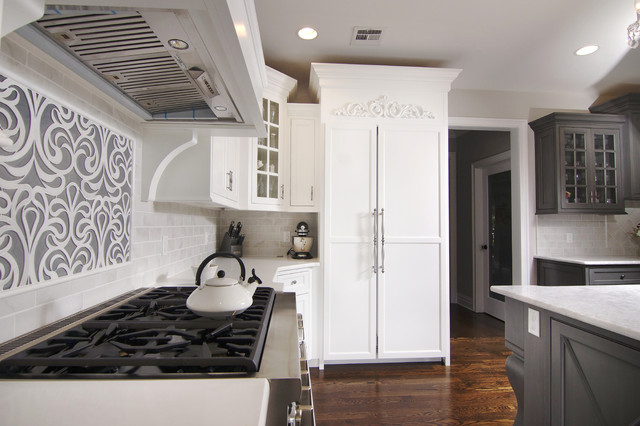 Transitional White Kitchen Transitional Kitchen New York By The Design Center Llc
