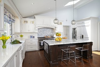Transitional White Kitchen with Moroccan accents traditional-kitchen