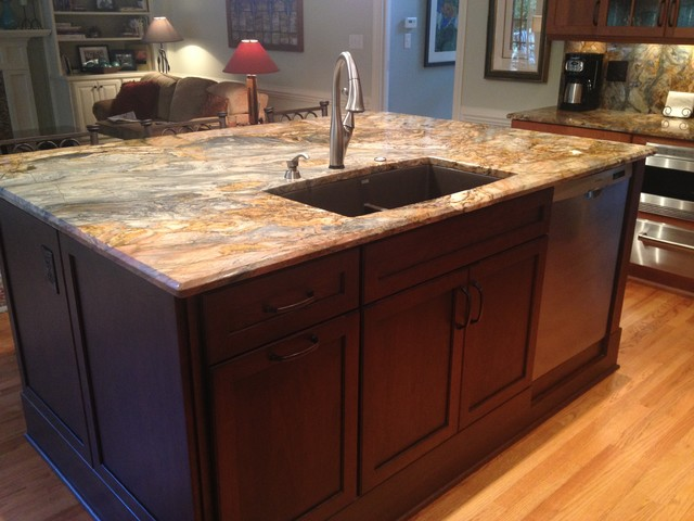 Transitional With Fusion Granite Kitchen