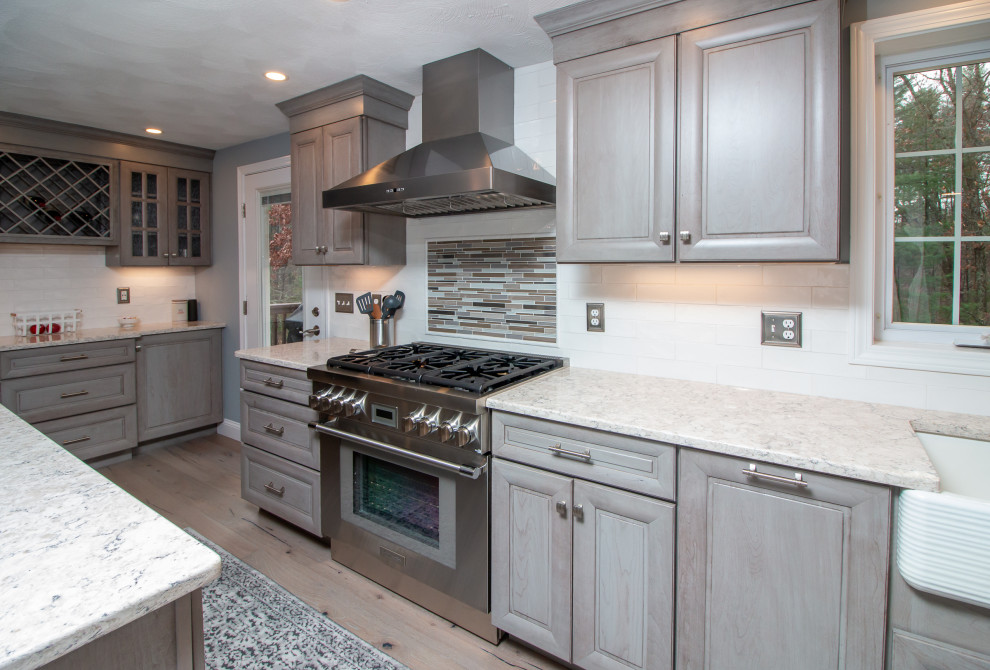 Transitional Yorktowne Peppercorn Kitchen remodel with LG ...