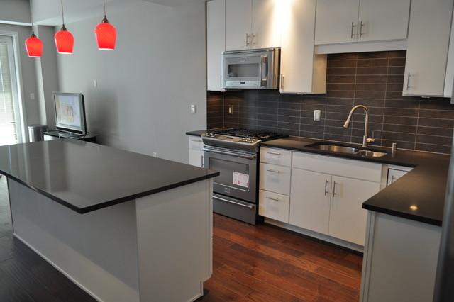 Kitchen - contemporary kitchen idea in Dallas