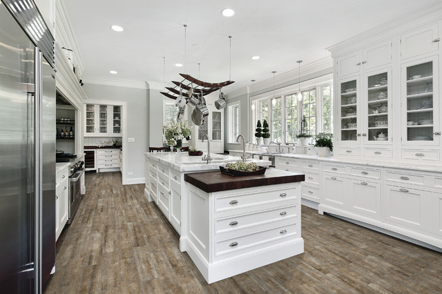 Trend Wood Look Ceramic Tile Traditional Kitchen
