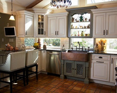 Tri Color Kitchen traditional kitchen