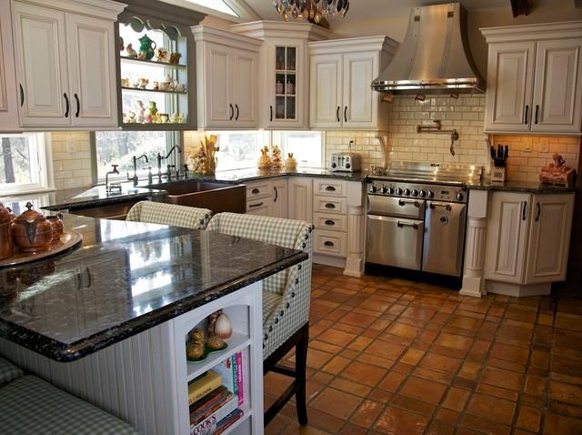 Tri color kitchen all pics are property of merri for Classique ideas interior designs inc