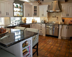 Tri Color Kitchen- All pics are property of Merri Interiors, Inc. traditional-kitchen