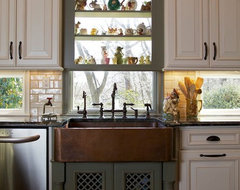 Tri Color Kitchen traditional-kitchen