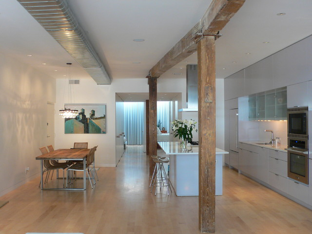 Tribeca loft contemporary kitchen new york by sarah jefferys design