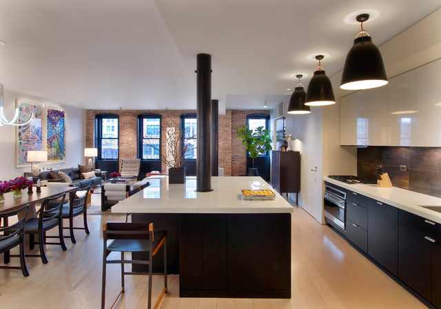 Tribeca Residence contemporary kitchen