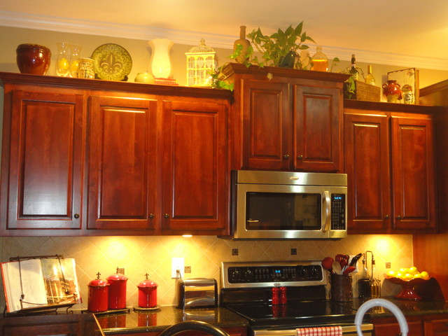 Tricky Space Above The Cabinets Traditional Kitchen Raleigh By